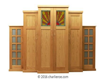 New Art Deco 6 door oak wardrobes