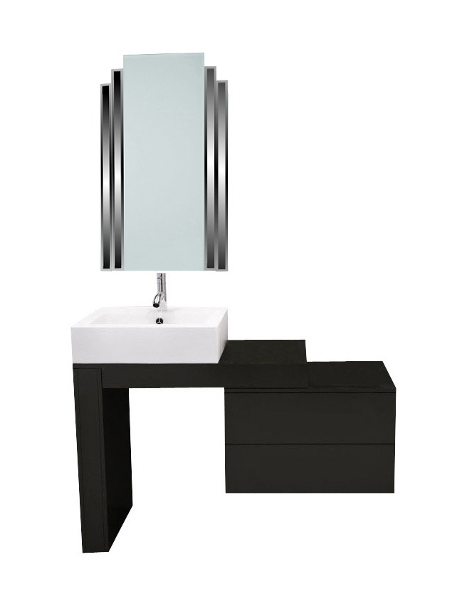 Beautiful New Art Deco Skyscraper Style Bathroom Vanity Unit Furniture With