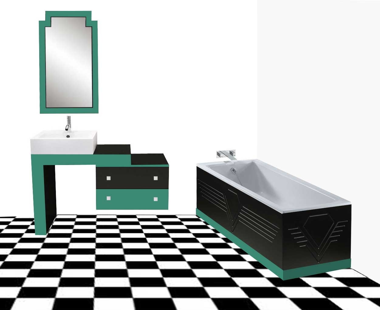 New art deco bathrooms vanity units wall units fitted bathroom interiors furniture for Toilet deco