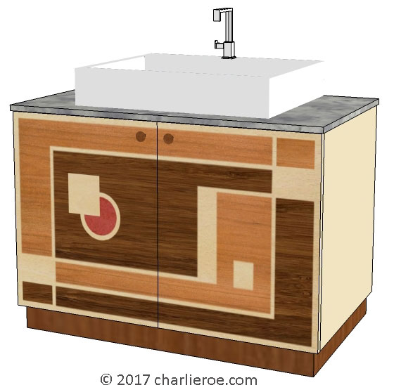 New Art Deco Bathroom Designs With Painted Amp Wooden Vanity