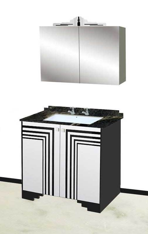 New Art Deco Bathrooms Vanity Units Wall Units Fitted Bathroom In