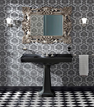 Bathroom Basins on Art Deco Black Bathroom Suite   Bathroom Furniture