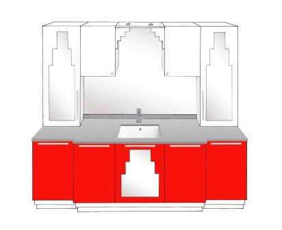 new art deco bathroom 5 door vanity unit with paul frankl skyscraper style deco designs u0026