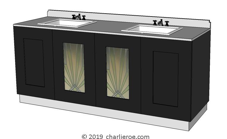 . New Art Deco bathrooms vanity units   wall units   fitted bathroom