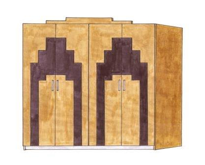 furniture art deco style. New Art Deco Bedroom \u0027Skyscraper\u0027 Style 4 Door Wardrobe Furniture A