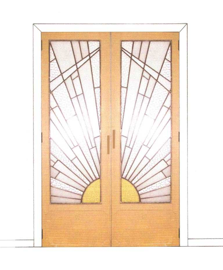 New Art Deco Bedroom Stained Glass 2 4 Door Wardrobes Design