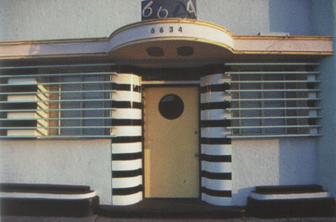 ... Art Deco House Front Door With Porthole In Streamline Moderne Style