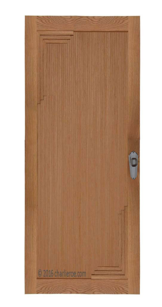 ... New Art Deco Oak Door With Stepped Corner Mouldings