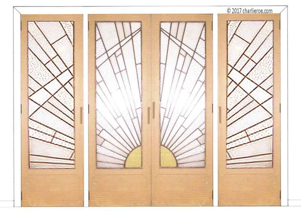 Interiors doors on pinterest sliding doors barn doors for Art glass windows and doors