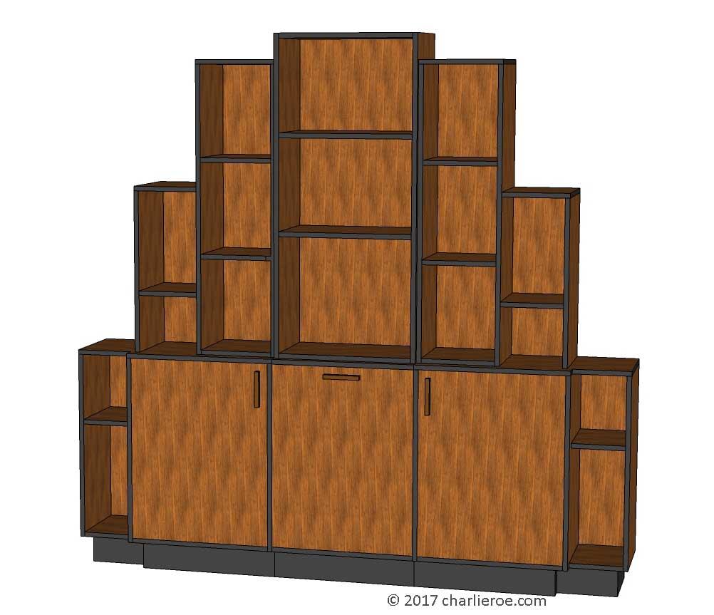 12 Art Deco Kitchen Designs And Furniture: New Art Deco Stepped Skyscraper Style Bookcases Cupboards