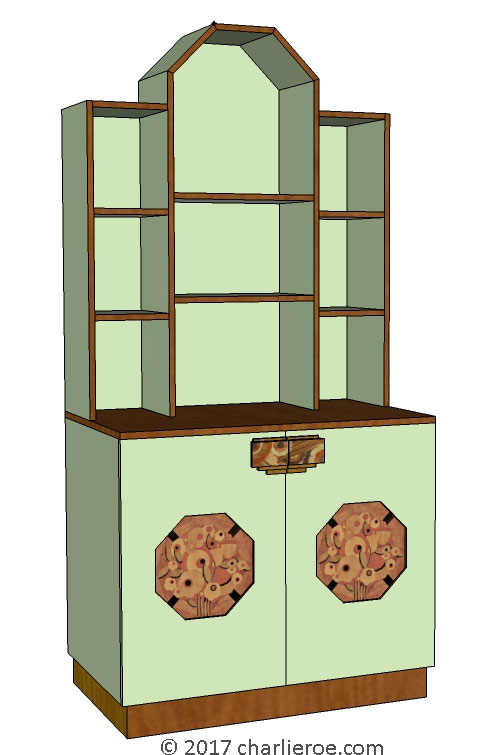 New Art Deco Bookcases Display Cuboards Home Office Bar Drinks