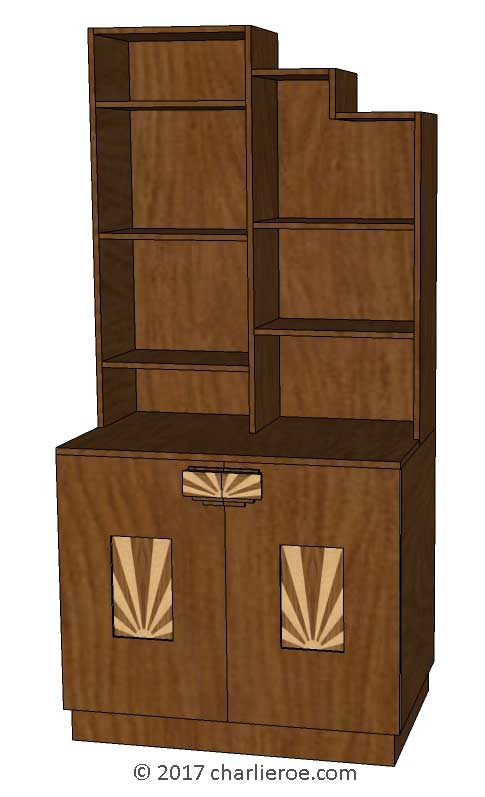 New Art Deco Stepped Skyscraper Style Bookcases Display
