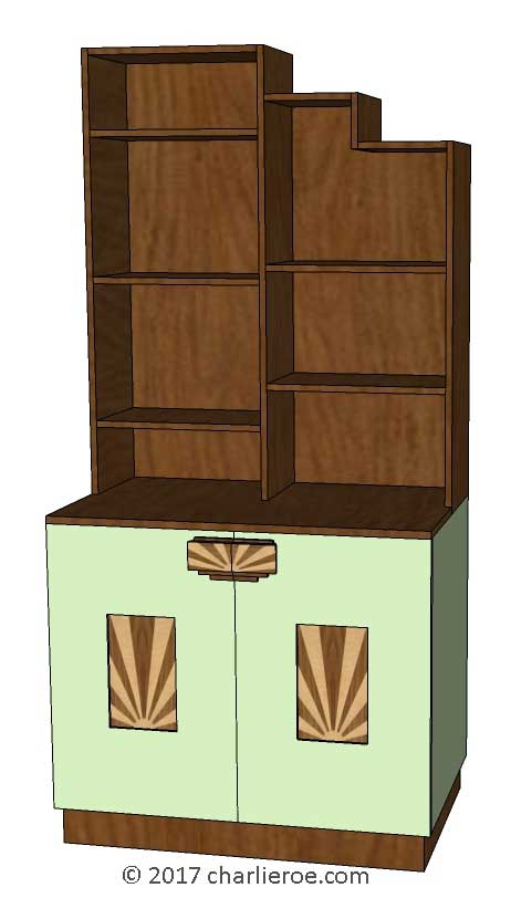 art moderne furniture. New Art Deco Moderne Stepped Skyscraper Style Bookcase Storage Cabinet Cupboard With Rising Sun Marquetry Panels Furniture