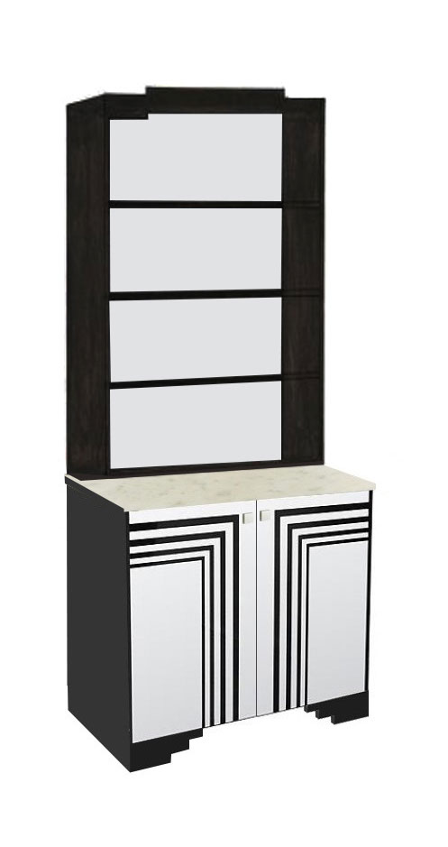 new art deco bedroom 2 door painted bookcase with streamline speed lines furniture art deco furniture lines