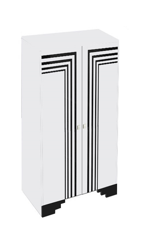 new art deco streamline moderne painted bookcase with speed lines art deco furniture lines