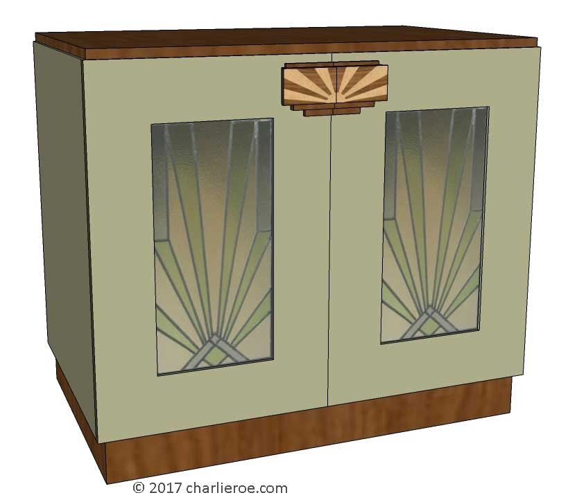 Art Deco Glass Cabinet