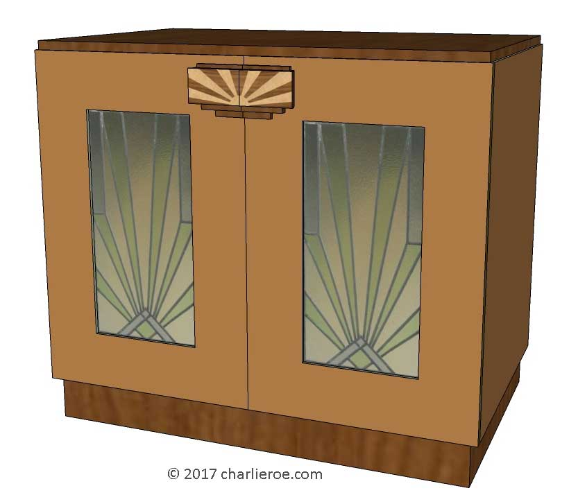 New Art Deco 2 Amp 4 Door Cabinet Cupboard Bar Or