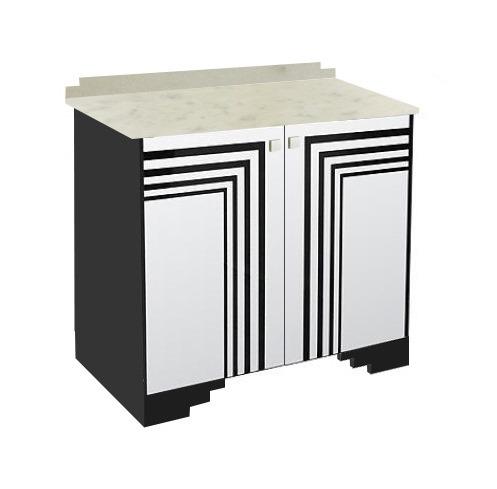 new art deco furniture. new art deco painted 2 door sideboard cupboard with streamline speed lines furniture