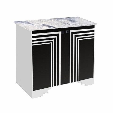 new art deco painted 2 door sideboard cupboard with streamline speed lines art deco furniture lines