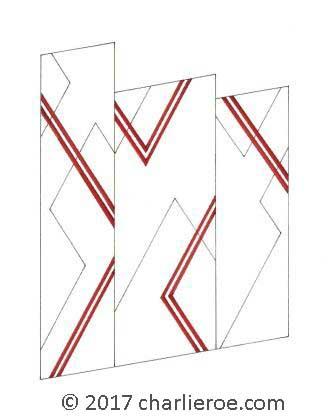 new donald deskey painted art deco cubist screen furniture art deco furniture lines