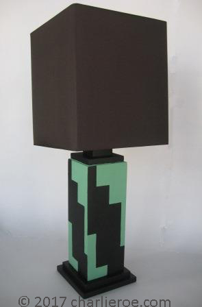 New art deco cubist skyscraper style stepped streamline for Art deco style lamp