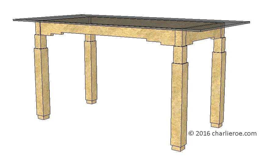 New art deco skyscraper style stepped dining tables for Latest style dining table