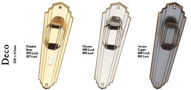 Art Deco Door Handles - New Art Deco Ironmongery Door & Furniture Handles