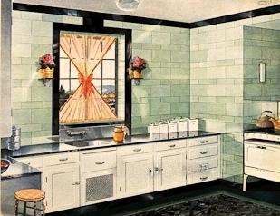 Art Nouveau Kitchen Tiles