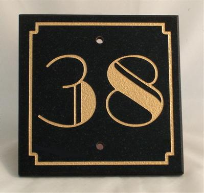 new art deco house numbers name signs plates plaques. Black Bedroom Furniture Sets. Home Design Ideas
