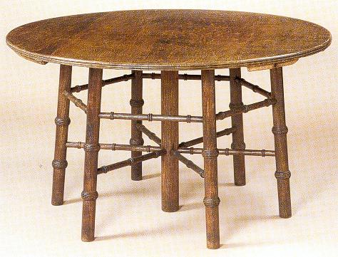Philip Webb Wm Morris Co Gothic Arts Crafts Round Oak Dining Tab