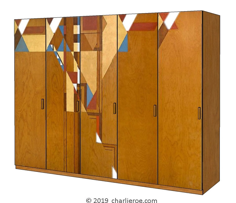 Arts & Crafts Movement oak & painted beds wardrobes ...