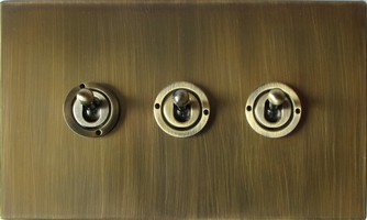 Toggle Switch Cover >> Arts & Crafts Movement hand forged electrical lighting rocker & dolly switches & sockets