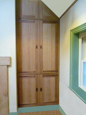 Cfa Voysey Arts Crafts Movement Style Oak Built In 2 Door Wardrobe