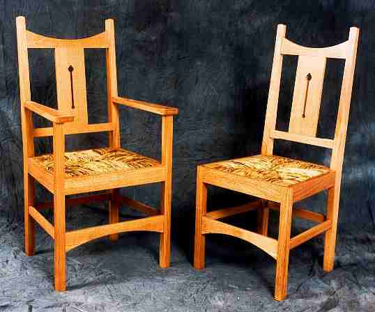 Cfa Voysey Arts Crafts Movement Style Dining Furniture Chairs Table Sideboard Display Cabinet Oak Furniture