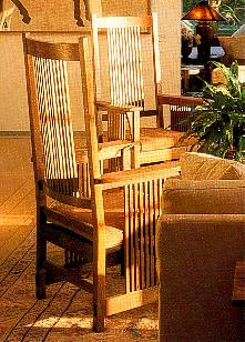 New Arts Amp Crafts Movement Mission Prairie Style Oak Chairs