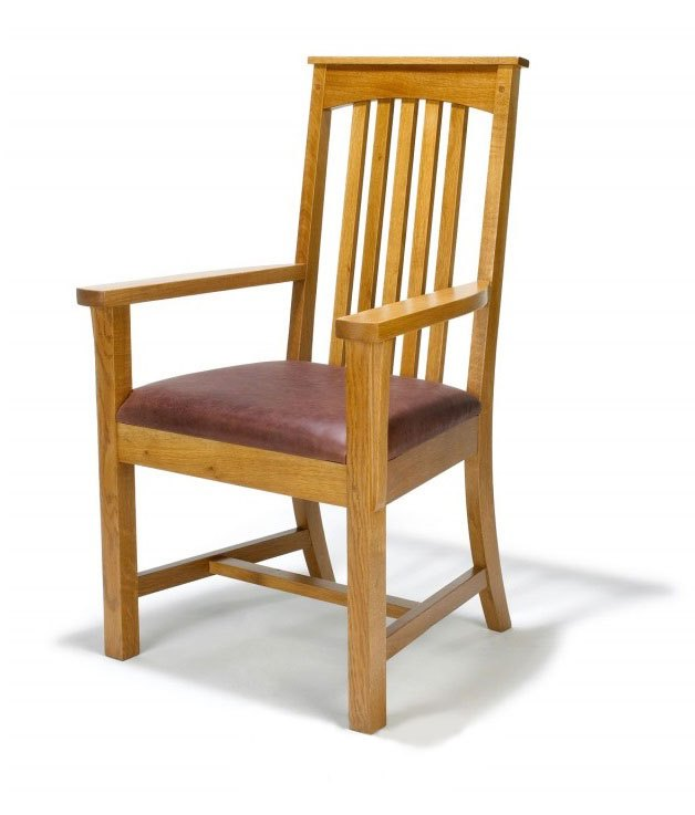 new Arts & Crafts Movement Illinois Mission style  wooden carver chair
