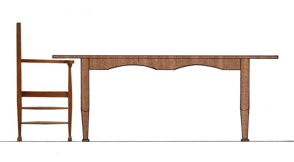 Wood Elevation S : New reproduction arts crafts movement oak dining table