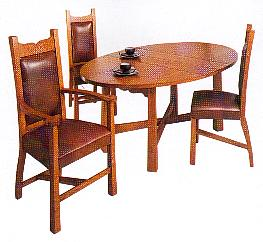 New Arts & Crafts Movement Oak Dining Room furniture