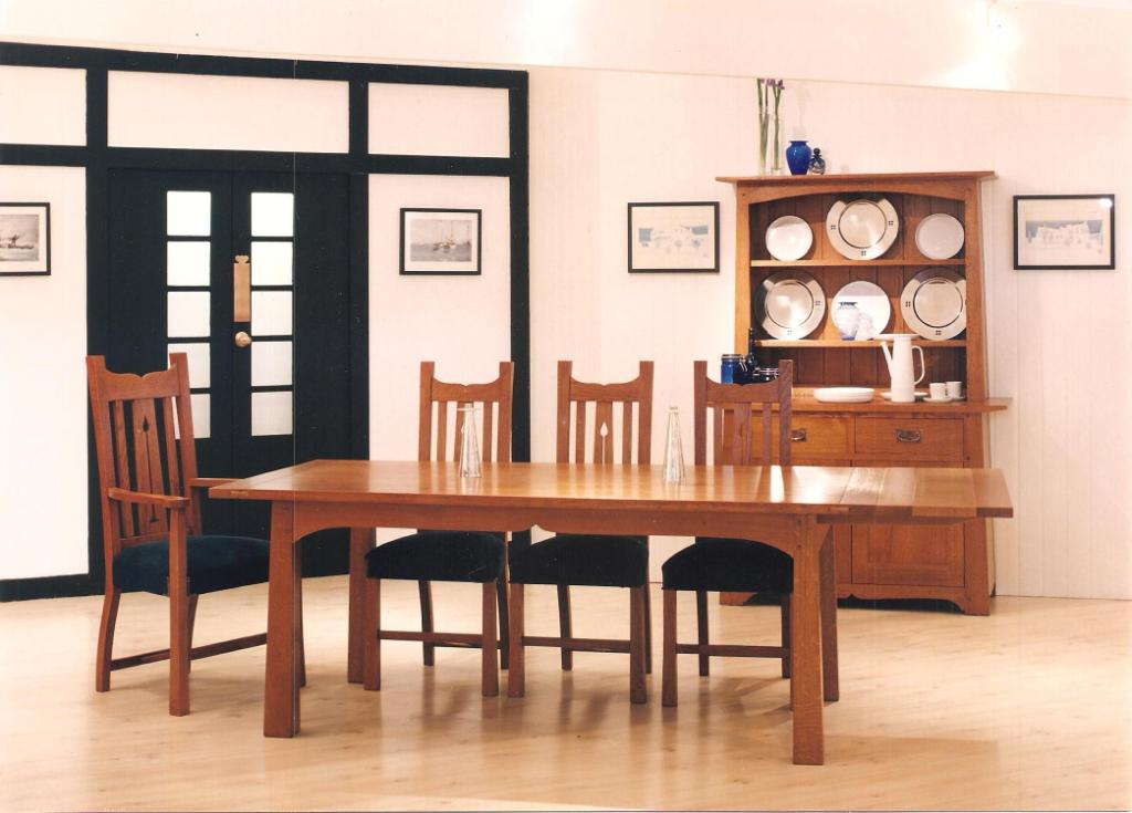 The Holly Oak Arts Crafts Movement Dining Room Furniture