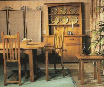New arts crafts movement oak dining room furniture - Arts and crafts dining room furniture ...