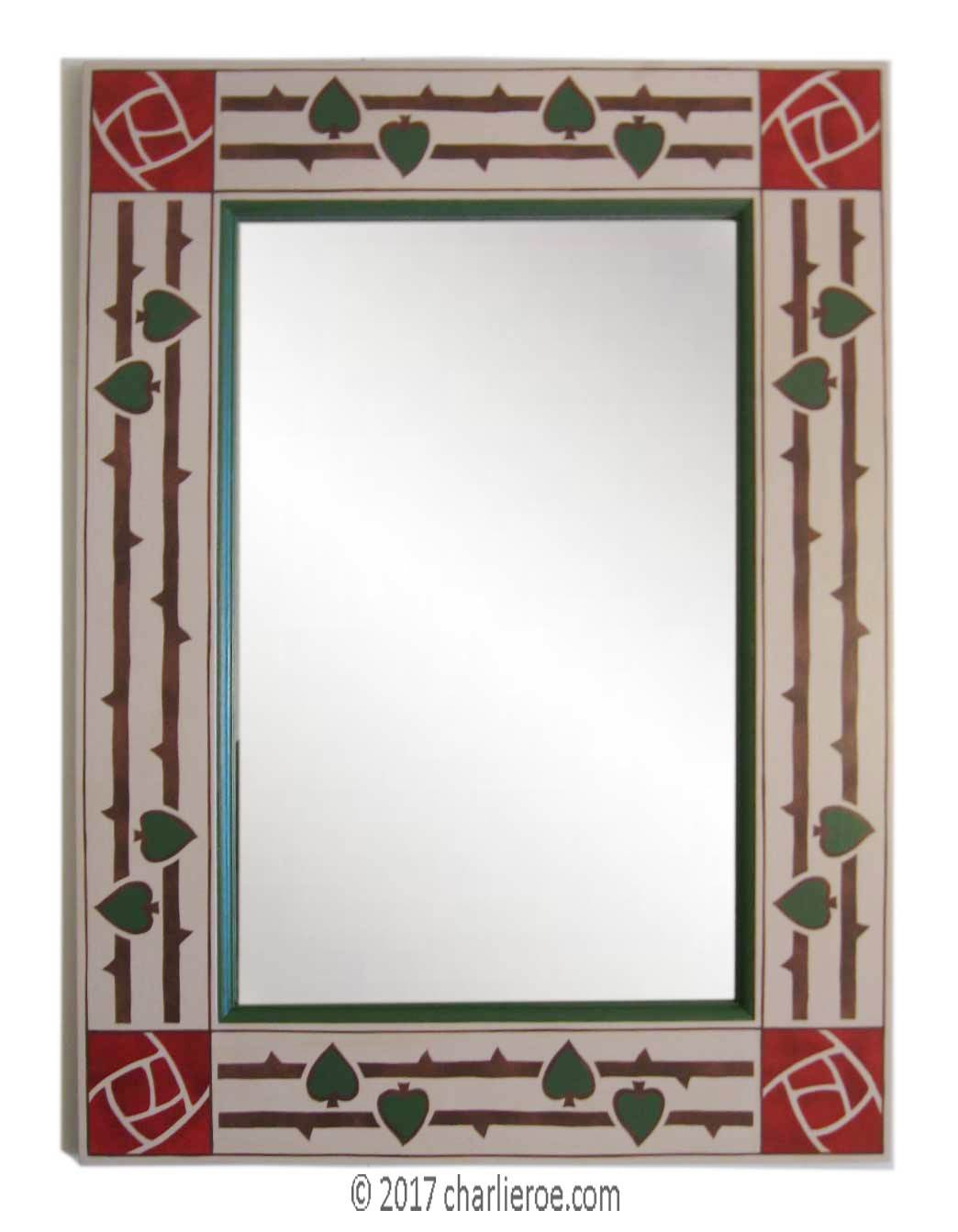 New Arts & Crafts Movement style decorative painted mirror frames