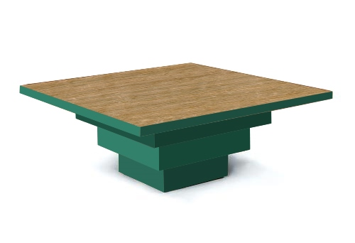 new Frank Lloyd Wright Arts & Crafts Movement Mission Prairie style stepped painted coffee table