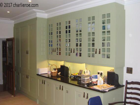 New Arts Crafts Movement Fitted Painted Kitchens