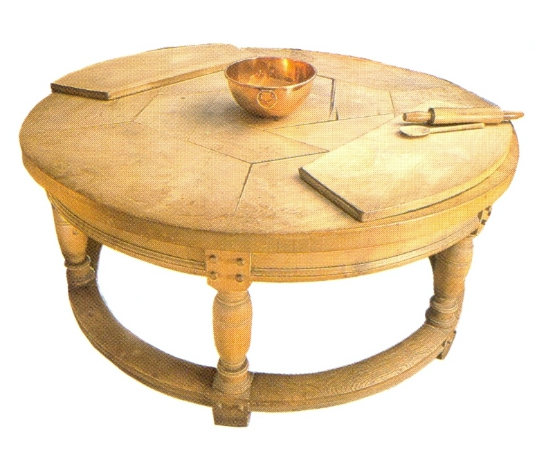 Edwin lutyens oak arts crafts movement kitchen furniture for Arts and crafts kitchen table