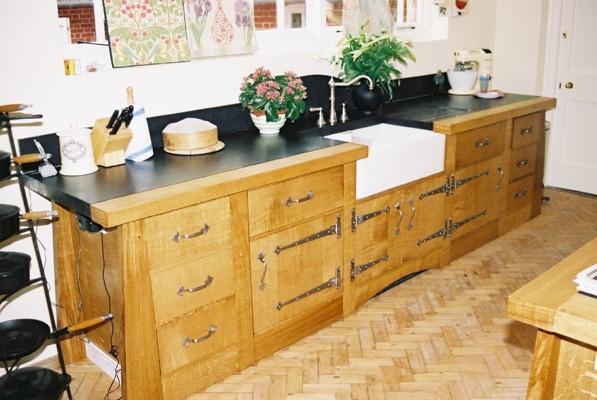 New Edwin Lutyens Arts Amp Crafts Movement Oak Kitchen
