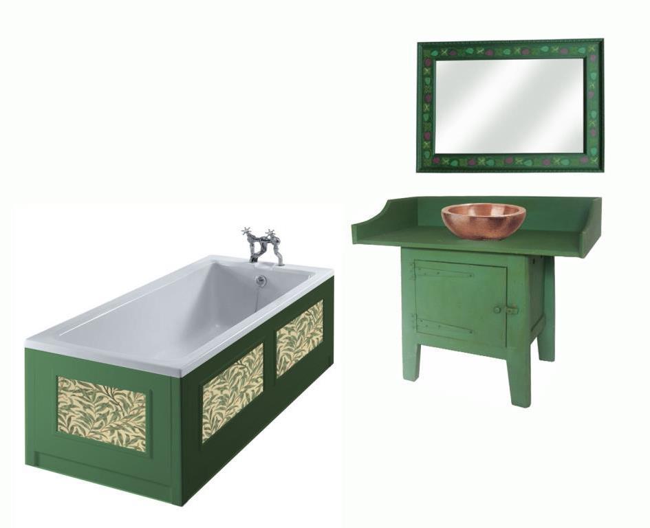 William Morris Style Arts Crafts Movement Bathroom Furniture