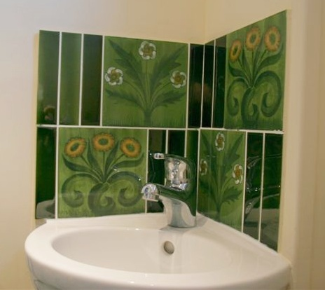 William morris style arts crafts movement bathroom tiles for Arts and crafts floor tile