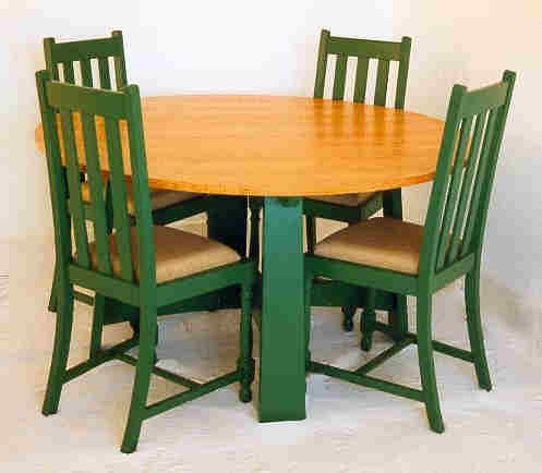 William Wm Morris Co Arts Crafts Movement Style Dining Table Chairs