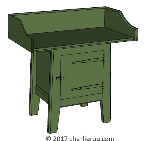 New Wm Morris Arts & Crafts Movement Artisan range of bathroom washstands vanity units furniture in painted or wood finishes