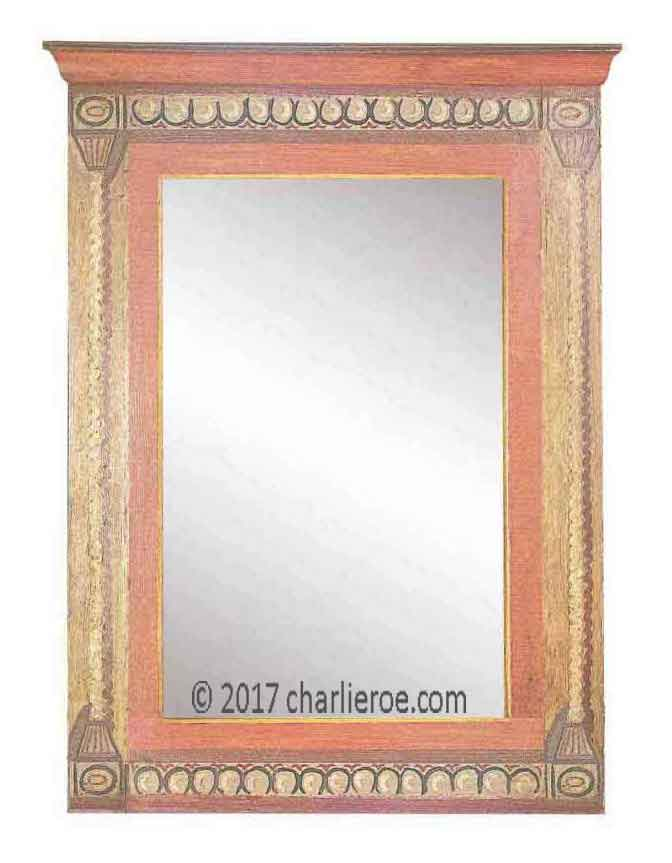 New Omega Workshops & Bloomsbury Group style painted mirror frames